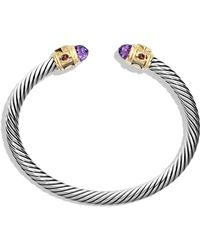 David Yurman Renaissance Bracelet With Amethyst And Gold - Lyst