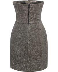 Blumarine Draped Lurex Bustier Dress - Lyst