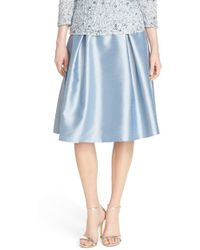 Adrianna Papell - Pleated Shantung Skirt - Lyst