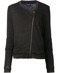 Splendid Gray Quilted Jacket - Lyst