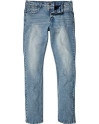 River Island - Mid Wash Humour Skinny Jeans - Lyst