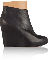 Maison Margiela Two-Tone Leather Boots - Lyst