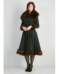 Collectif Clothing - Luxe-y In Love Coat In Pine - Lyst