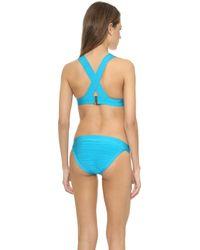 Hervé Léger Summer Bikini Top - Bright Turquoise - Lyst