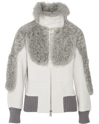 Marc Jacobs Shearlingtrimmed Alpacablend Bomber Jacket - Lyst