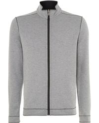 Hugo Boss Pima Cotton Zip Up Sweatshirt - Lyst