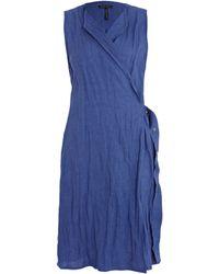 Sarah Pacini - Blue Sleeveless Tied Wraparound Dress - Lyst
