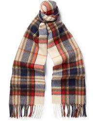 Begg & Co Niven Vale Wool and Cashmere-blend Scarf - Lyst