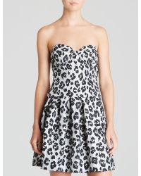 Moschino Cheap & Chic Top - Leopard Jacquard Bustier - Lyst