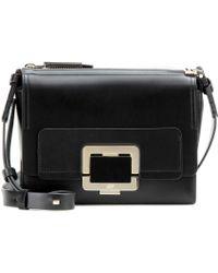 Roger Vivier Mini U Leather Shoulder Bag - Lyst