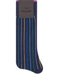 Duchamp Pop Verical Striped Socks - For Men - Lyst