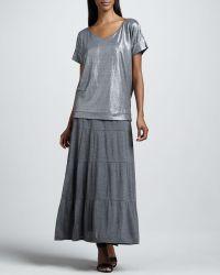 Eileen Fisher Tiered Maxi Skirt - Lyst