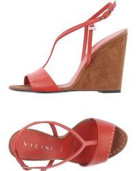 Vicini Red Sandals - Lyst