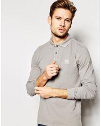 BOSS Orange Polo Shirt With Logo & Long Sleeves - Lyst
