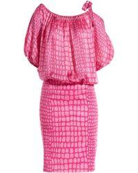 Moschino Cheap & Chic Printed Silk Crepe Dress - Lyst
