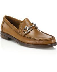 Ferragamo | Loriano Leather Bit Loafers | Lyst