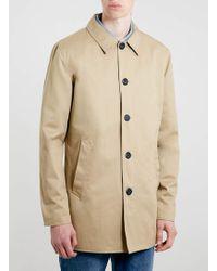 topman single breasted mac jacket