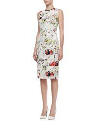 Erdem Maura Fitted Floral Patchwork Dress - Lyst