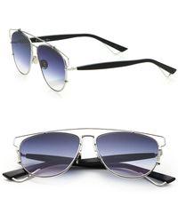 Dior Technologic 57Mm Pantos Sunglasses silver - Lyst