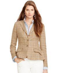 Polo Ralph Lauren Tweed Riding Jacket - Lyst