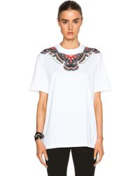 Givenchy Butterfly Neck Tee white - Lyst
