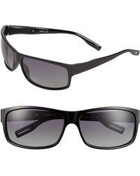Hugo Boss 65Mm Polarized Sunglasses - Shiny Black - Lyst