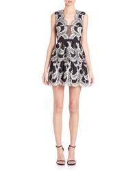 BCBGMAXAZRIA | Katriz Tulle-insert Lace Dress | Lyst