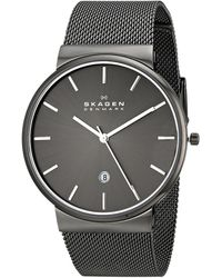 Skagen Ancher Leather Chronograph - Lyst