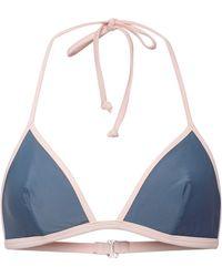 Solid & Striped Miranda Contrasttrim Triangle Bikini Top - Lyst