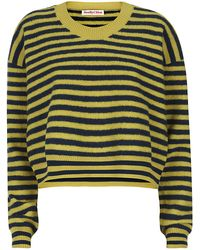 See By Chloé Striped Cropped Sweater - Lyst