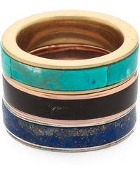 Pamela Love Inlay Stack Ring Set  - Lyst