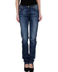 Versace Jeans Blue Denim Pants - Lyst