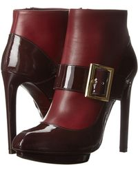 Alexander McQueen Red Dolly Bootie - Lyst