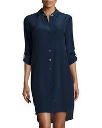 Diane von Furstenberg Prita Silk Shirt Dress - Lyst