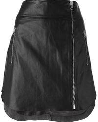 McQ by Alexander McQueen Zip Detail Skirt - Lyst