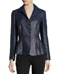 Lafayette 148 New York Bianca Metallic Tweed Jacket - Lyst
