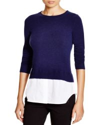 C By Bloomingdale's   Cashmere Shirttail Sweater   Lyst