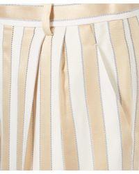 The Row Rose Gold Striped Wide Leg Sala Pyjama Trousers - Pink