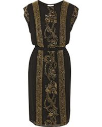 Day Birger Et Mikkelsen Night Goldie Embellished Crepe Dress - Lyst