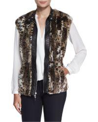 Rebecca Taylor - Faux-Fur Leopard-Print Vest - Lyst