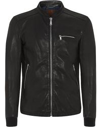 7 For All Mankind Leather Bomber Jacket - Lyst