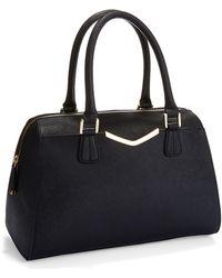 Calvin Klein Black Convertible Satchel - Lyst