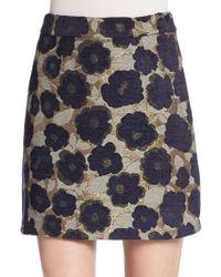 Sam Edelman Floral Jacquard Mini Skirt - Multicolor