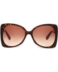 Marc Jacobs Tortoise Shell Oversized Sunglasses Brown Red - Lyst