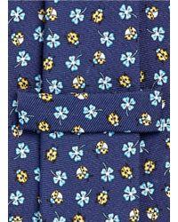 E. Marinella - Ladybug And Floral Print Silk Tie - Lyst