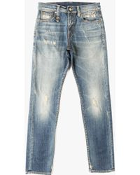 R13 Skate Jean blue - Lyst