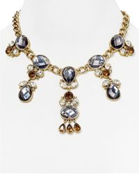 "T Tahari - Cluster Stone Necklace, 16"" - Lyst"