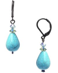 Dabby Reid 'annie' Crystal Mix Drop Earrings - Turquoise - Blue