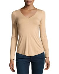 Todd And Duncan - Long-sleeve V-neck Blouse - Lyst