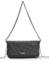 Zadig & Voltaire Quilted Rock Clutch - Lyst